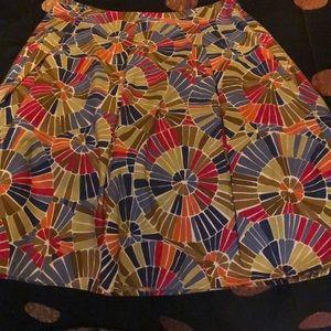 Talbots multicolor skirt size 10